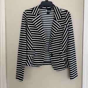 Black & White Stripe Blazer!